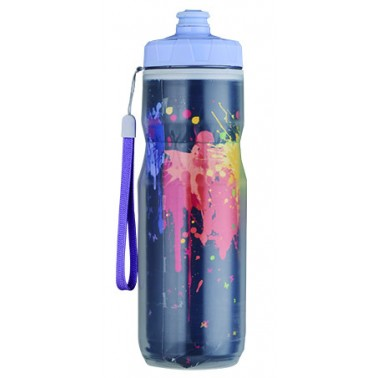 insulated squeezable sports bottle with reflective material