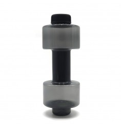 dumbbell shaped gym water bottle