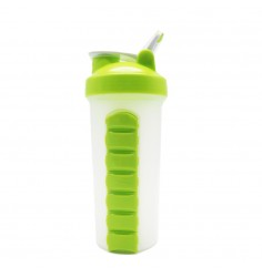 New Protein Shaker Cup With Pill Box